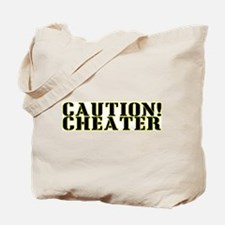 Caution! Cheater Tote Bag