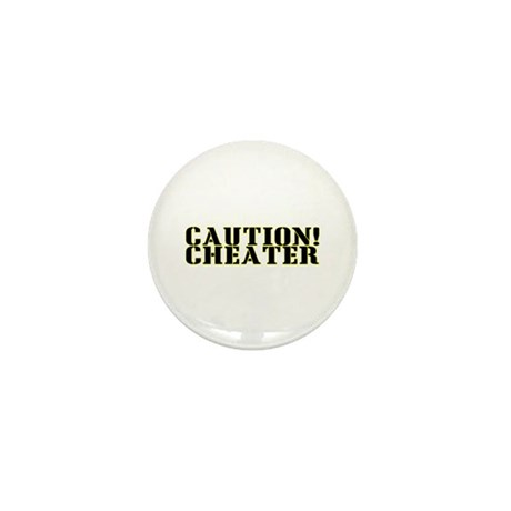 Caution! Cheater Mini Button (10 pack)