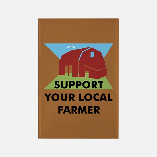 Support Your Local Farmer Rectangle Magnet