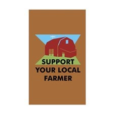 Support Your Local Farmer Rectangle Decal