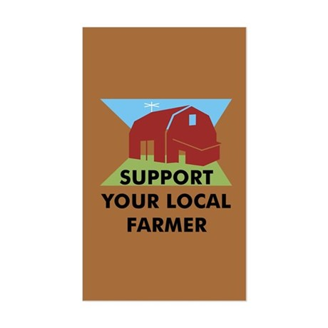 Support Your Local Farmer Rectangle Sticker