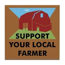 Support Your Local Farmer Tile Coaster