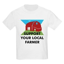 Support Your Local Farmer Kids T-Shirt