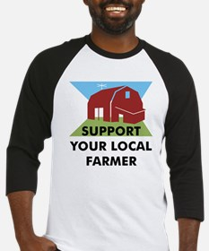 Support Your Local Farmer Baseball Jersey