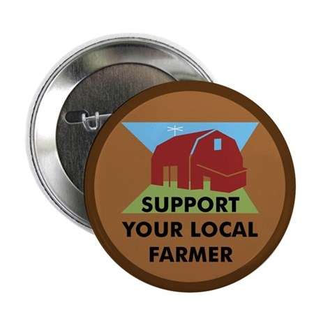 "Support Your Local Farmer 2.25"" Button (100 pack)"