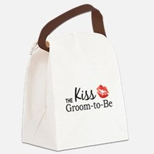 Kiss the Groom-to-be Canvas Lunch Bag