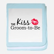 Kiss the Groom-to-be baby blanket