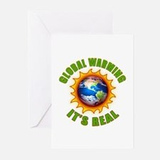 Global Warming Its Real Greeting Cards (Package of