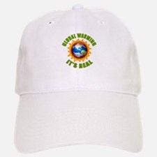 Global Warming Its Real Baseball Baseball Cap