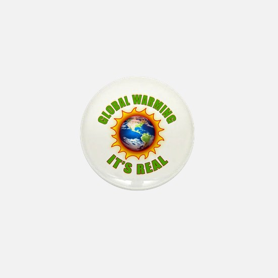 Global Warming Its Real Mini Button