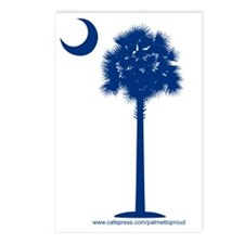 palmetto  blue Postcards (Package of 8)