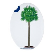 palmetto green Oval Ornament