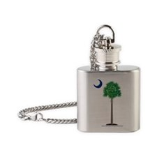 palmetto green Flask Necklace