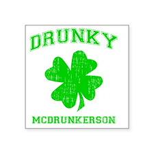 "drunkygre Square Sticker 3"" x 3"""