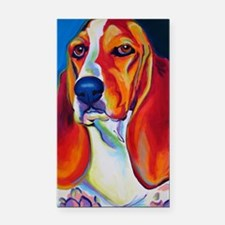 basset - Maple Rectangle Car Magnet