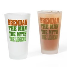 Brendan The Legend Drinking Glass
