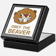 ObeyTheBeaver1Bk Keepsake Box