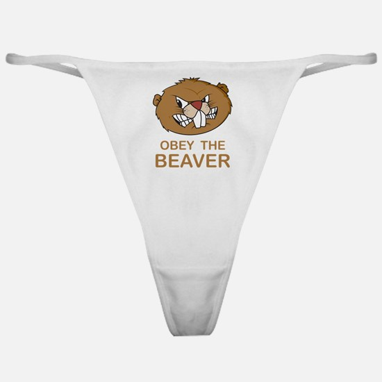 ObeyTheBeaver1Bk Classic Thong