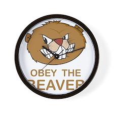 ObeyTheBeaver1Bk Wall Clock
