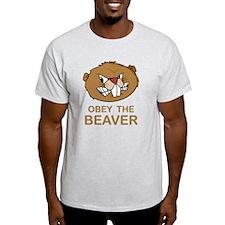 ObeyTheBeaver1Bk T-Shirt