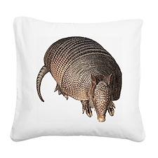 Armadillo Square Canvas Pillow