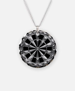 Dart Art Liquid Metal Hub Blk Necklace