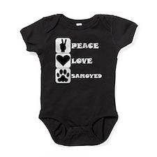 Peace Love Samoyed Baby Bodysuit