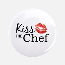 """Kiss the Chef 3.5"""" Button"""