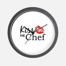 Kiss the Chef Wall Clock
