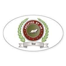 Adopted By Ocicat Oval Decal