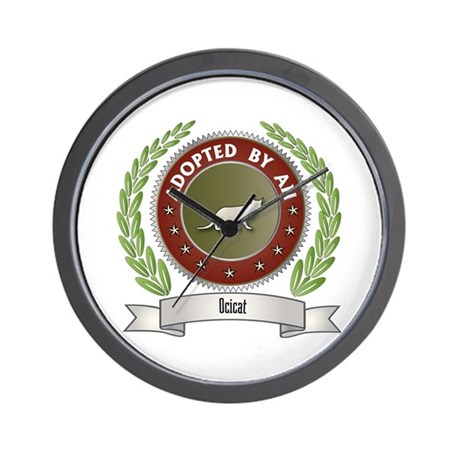 Adopted By Ocicat Wall Clock