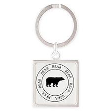 bear75 Square Keychain