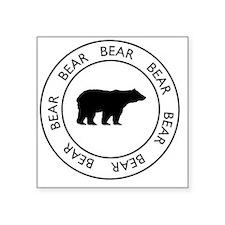 "bear75 Square Sticker 3"" x 3"""