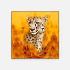 "Cheetah_portrait-vertical Square Sticker 3"" x 3"""