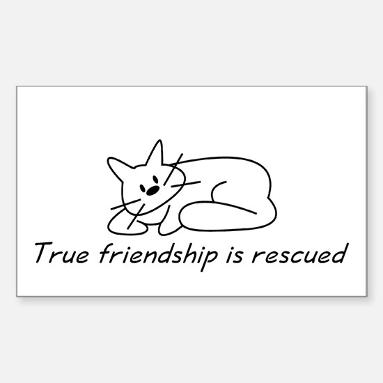 Cat Friendship Rectangle Decal