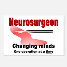Neurosurgeon Red Postcards (Package of 8)