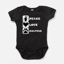 Peace Love Maltese Baby Bodysuit