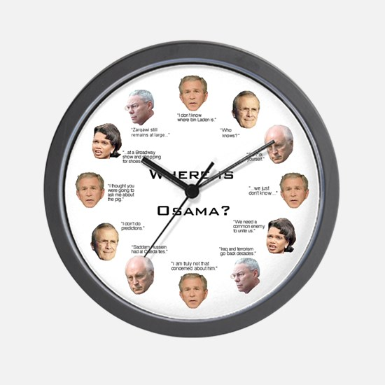 Where Is Osama? Wall Clock