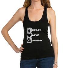 Peace Love Labradoodle Racerback Tank Top