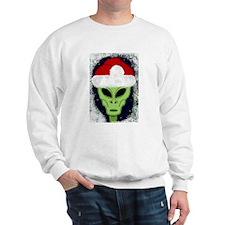 """Smiley"" Alien Santa Sweatshirt"
