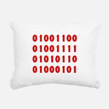 LOVE in Binary Code Rectangular Canvas Pillow
