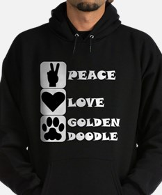 Peace Love Goldendoodle Hoodie