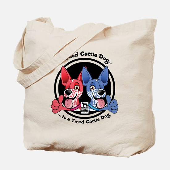 Tired Cattle Dog Tote Bag