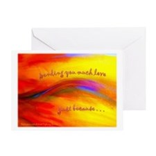 Sending you much love Greeting Card