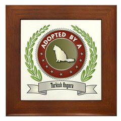 Adopted By Angora Framed Tile