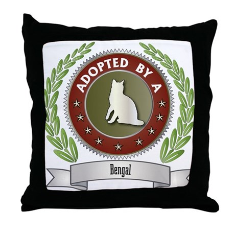 Adopted By Bengal Throw Pillow