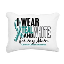 D MOM Rectangular Canvas Pillow
