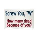 Screw W - Rectangle Magnet (10pc gift pack)