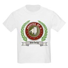 Adopted By Shorthair Kids T-Shirt