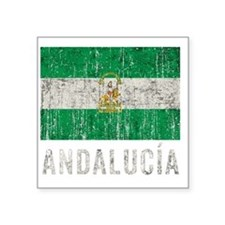 "andalucia_fl3Bk Square Sticker 3"" x 3"""